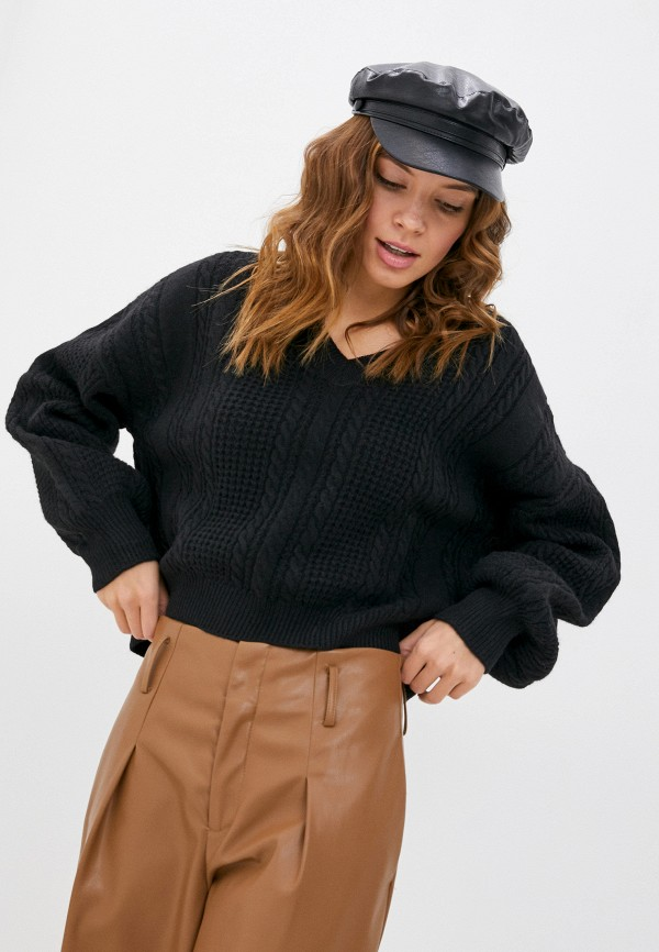 женский пуловер moocci, черный