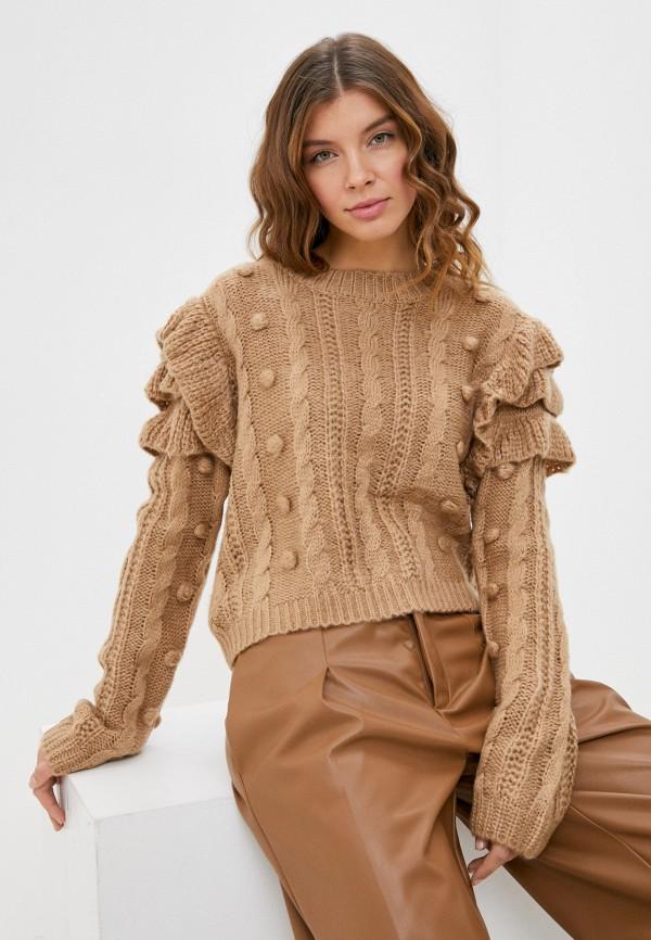женский джемпер moocci, коричневый