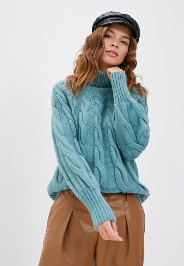 женский свитер moocci, бирюзовый