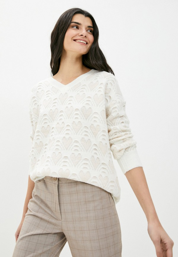 женский пуловер moocci, белый