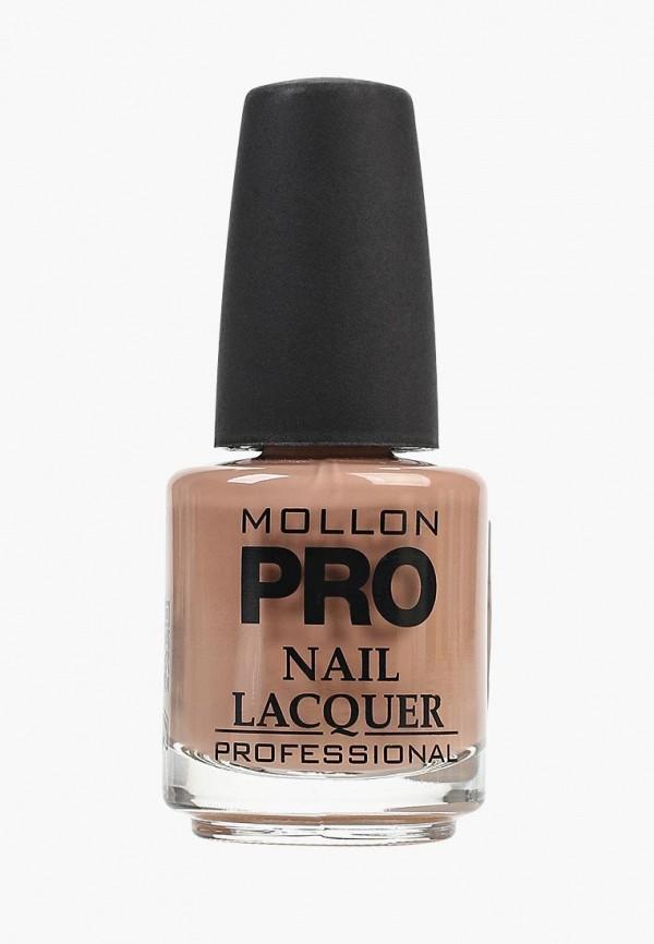лак для ногтей mollon pro, коричневый