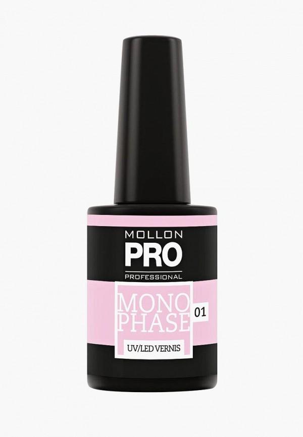 Купить Гель-лак для ногтей Mollon Pro, №01 10 мл, mo075lwdomr3, розовый, Весна-лето 2019