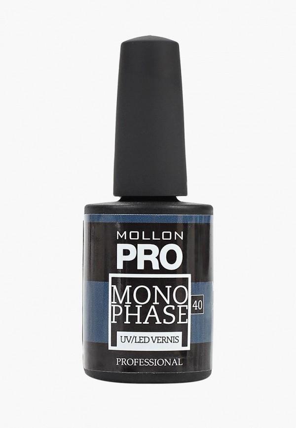 лак для ногтей mollon pro, синий