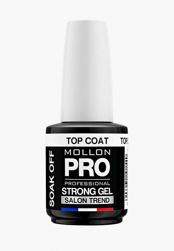 Купить Топовое покрытие Mollon Pro, Стойкое STRONG GEL TOP COAT SOAK OFF 12 мл, mo075lwdomt9, прозрачный, Весна-лето 2019