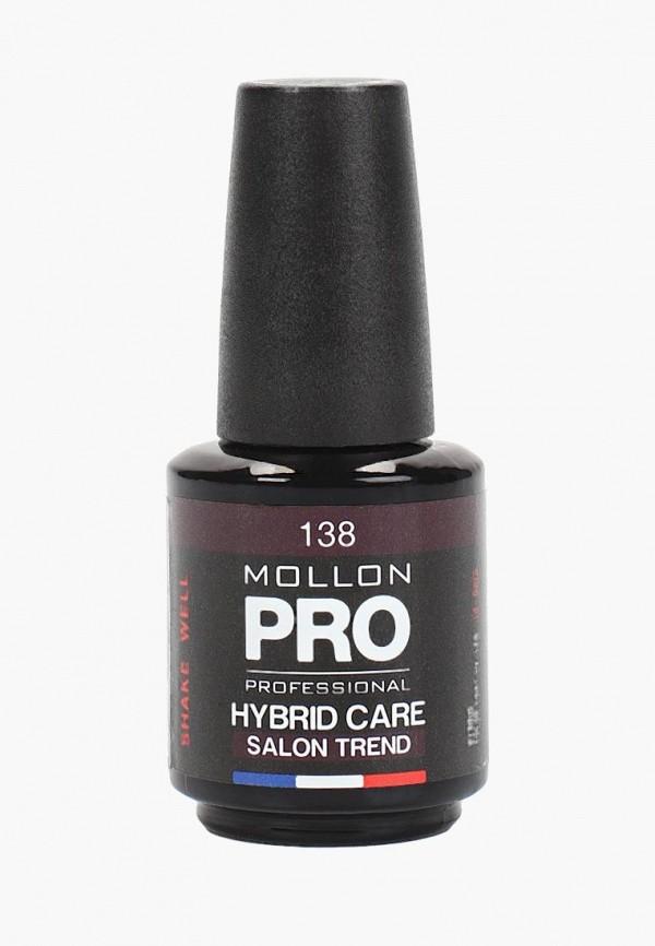 лак для ногтей mollon pro, бордовый