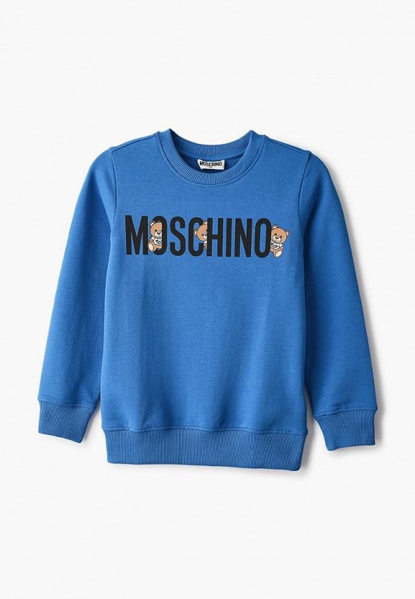 свитшот moschino kid малыши, синий