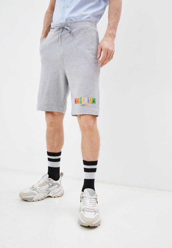 мужские спортивные шорты moschino swim, серые