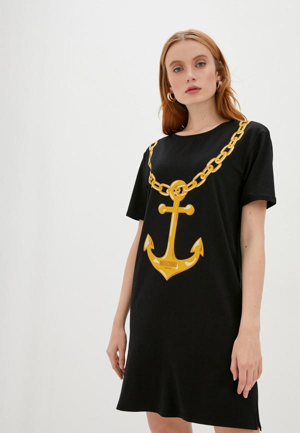 женское платье moschino swim, черное