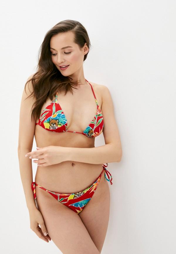 женские плавки moschino swim, красные