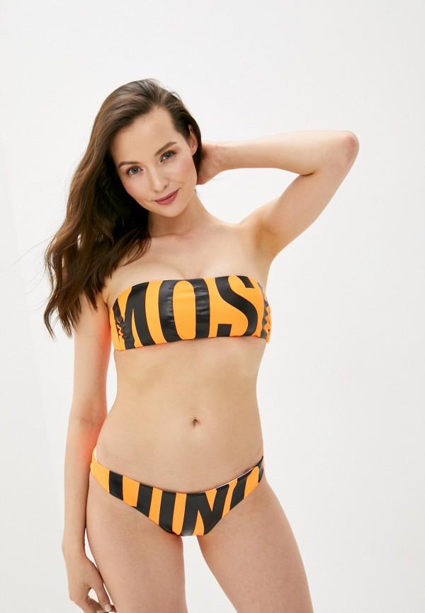 женский лиф moschino swim, оранжевый
