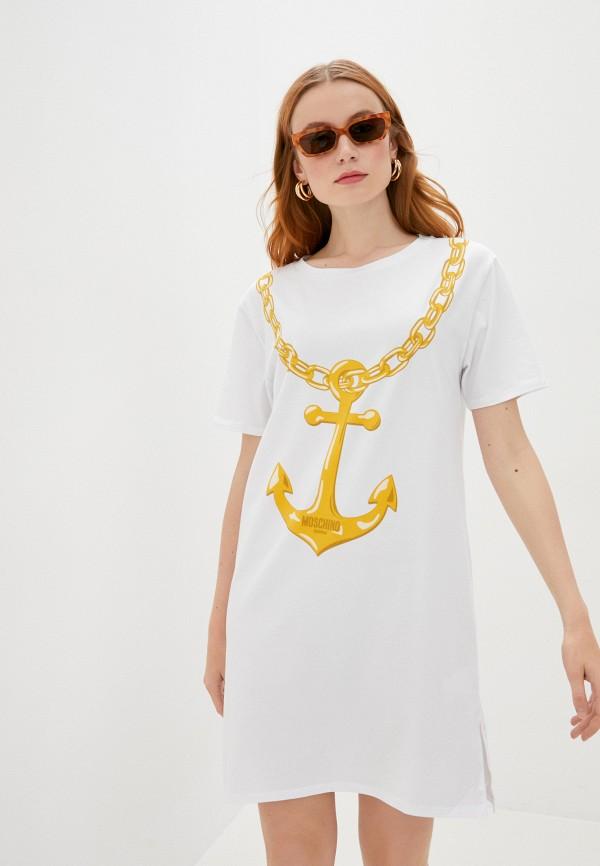 женское платье moschino swim, белое