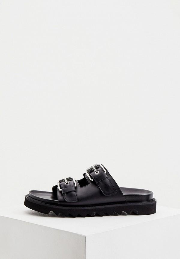 мужские сандалии moschino couture, черные