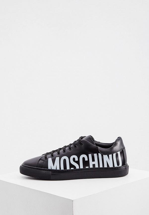 мужские кеды moschino couture, черные