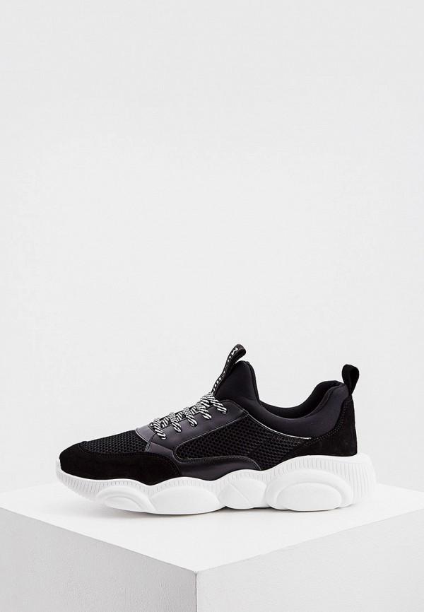 мужские кроссовки moschino couture, черные