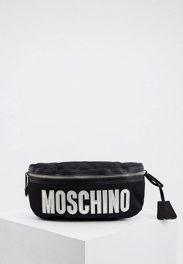 мужская поясные сумка moschino couture, черная
