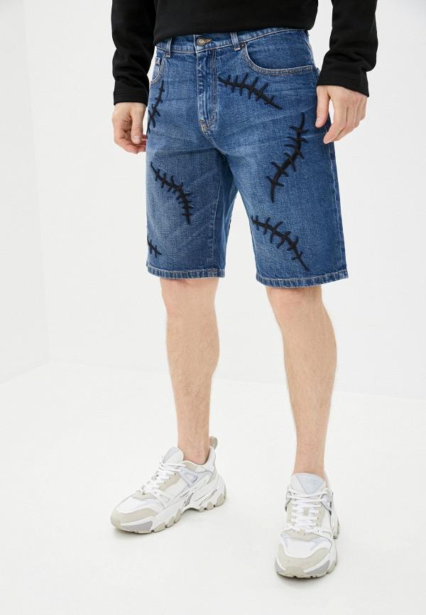 мужские джинсовые шорты moschino couture, синие
