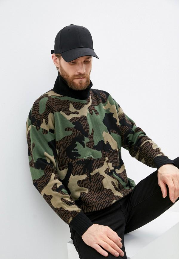 мужской свитер moschino couture, хаки