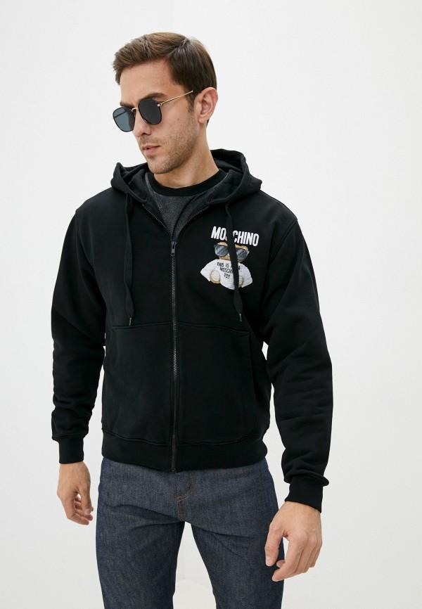 мужская толстовка moschino couture, черная