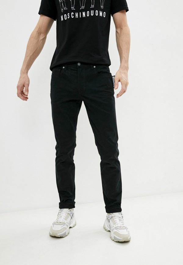 мужские прямые джинсы moschino couture, черные