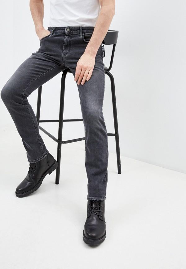 мужские зауженные джинсы moschino couture, серые