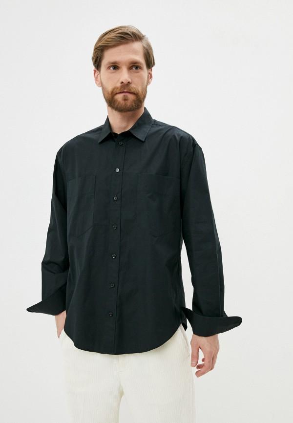 мужская рубашка с длинным рукавом moschino couture, черная