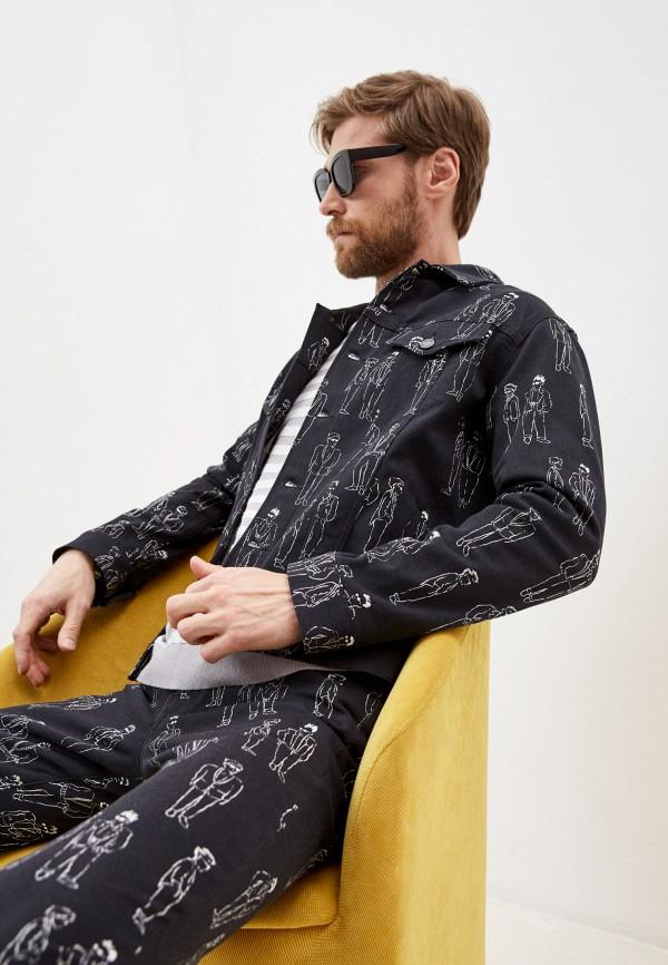 мужская джинсовые куртка moschino couture, черная