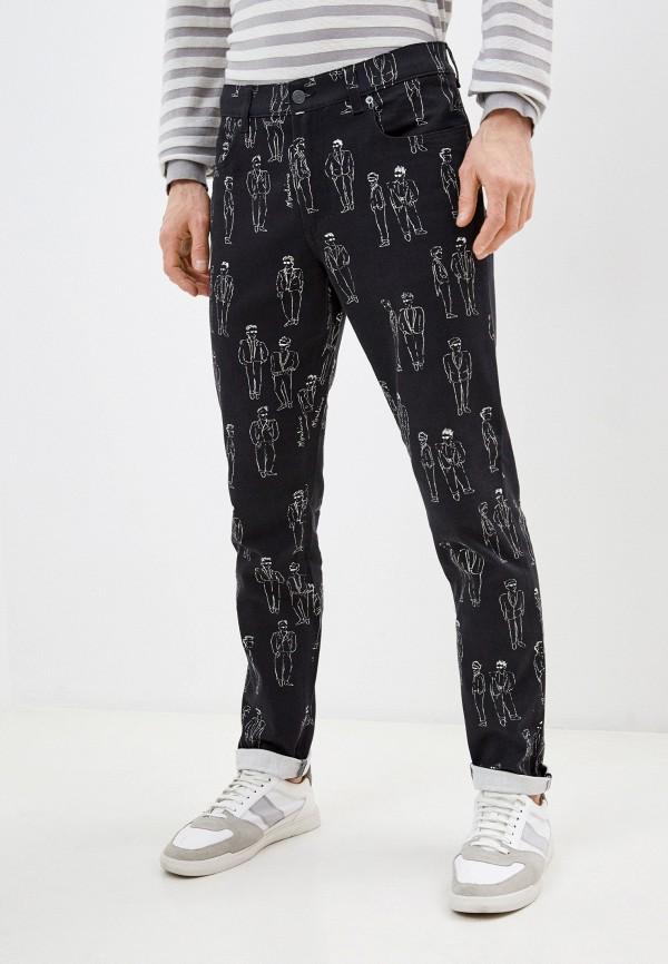 мужские зауженные джинсы moschino couture, черные