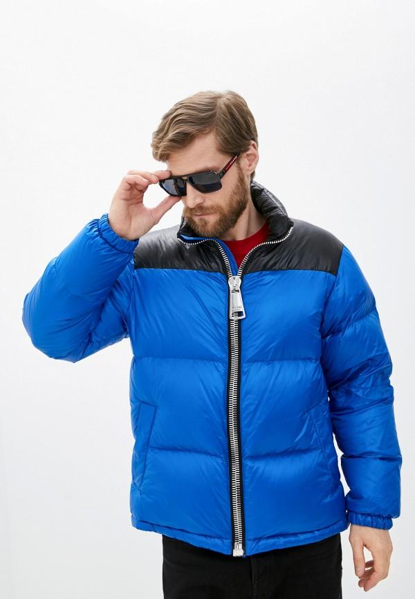 мужской пуховик moschino couture, синий