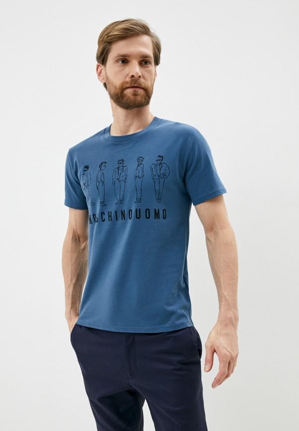 мужская футболка moschino couture, голубая
