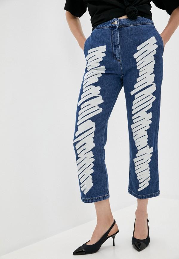 женские прямые джинсы moschino couture, синие