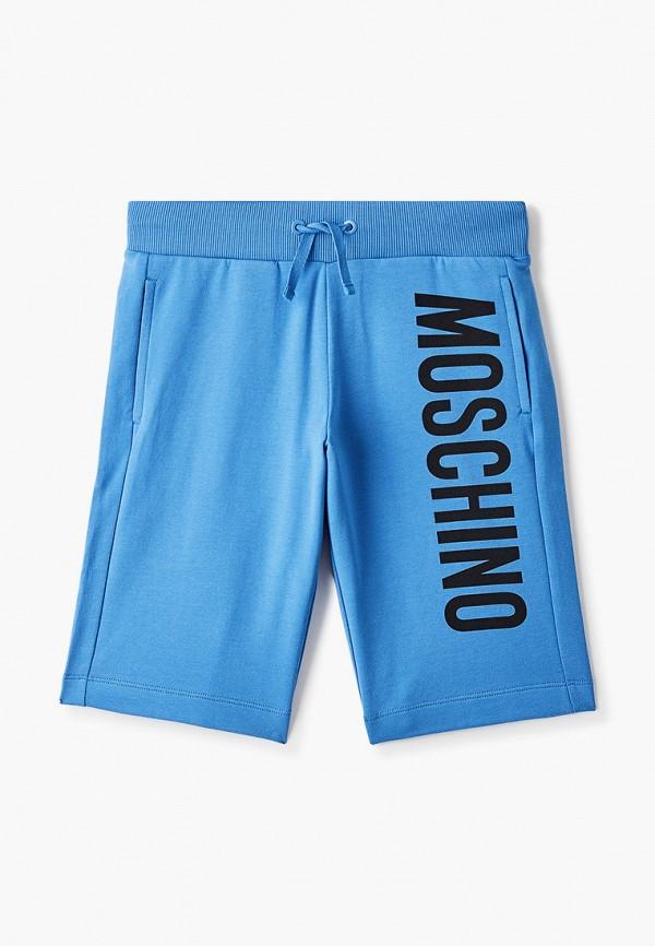 спортивные шорты moschino kid для мальчика, голубые