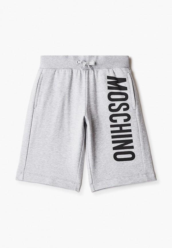 спортивные шорты moschino kid для мальчика, серые