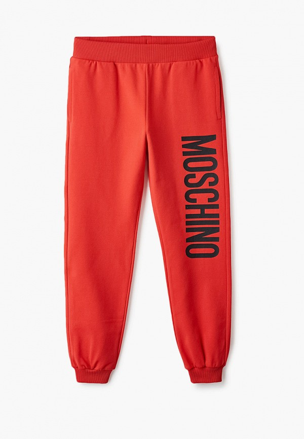 спортивные брюки moschino kid для мальчика, красные