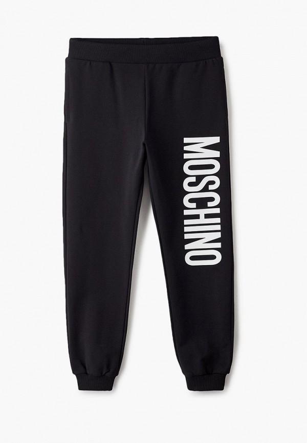 спортивные брюки moschino kid для мальчика, черные