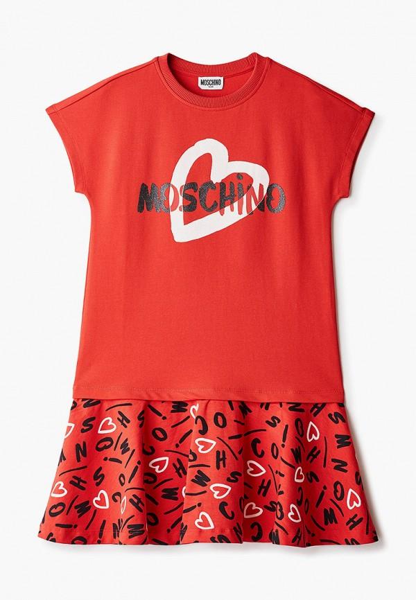 Платье Moschino Kid Moschino Kid HAV090 красный фото