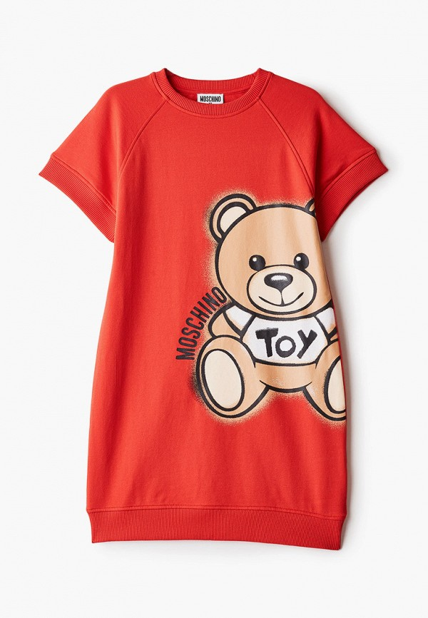 повседневные платье moschino kid для девочки, красное