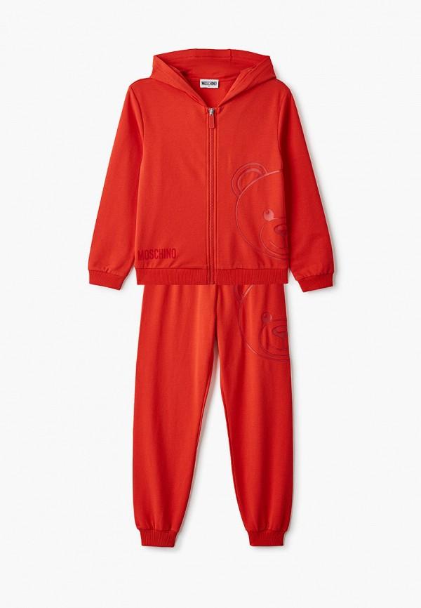 спортивный костюм moschino kid малыши, красный