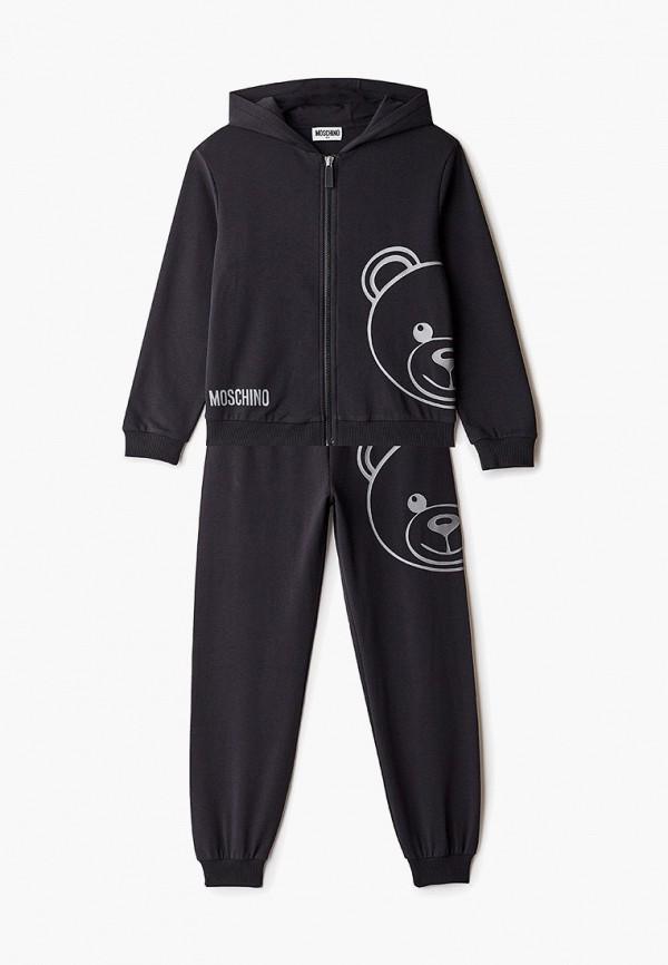 спортивный костюм moschino kid малыши, черный