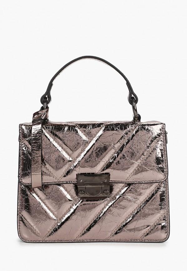 женская сумка moda sincera, серебряная