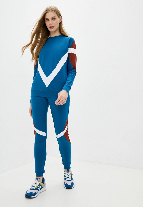 женский спортивный костюм moda sincera, бирюзовый