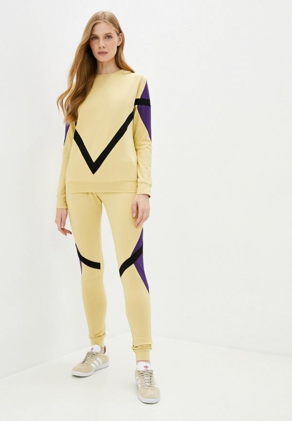 женский спортивный костюм moda sincera, желтый