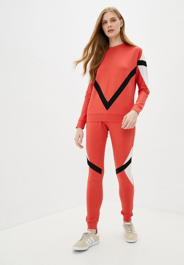 женский спортивный костюм moda sincera, красный