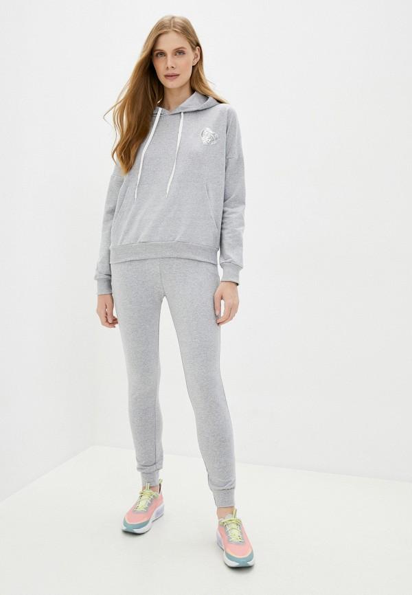 женский спортивный костюм moda sincera, серый