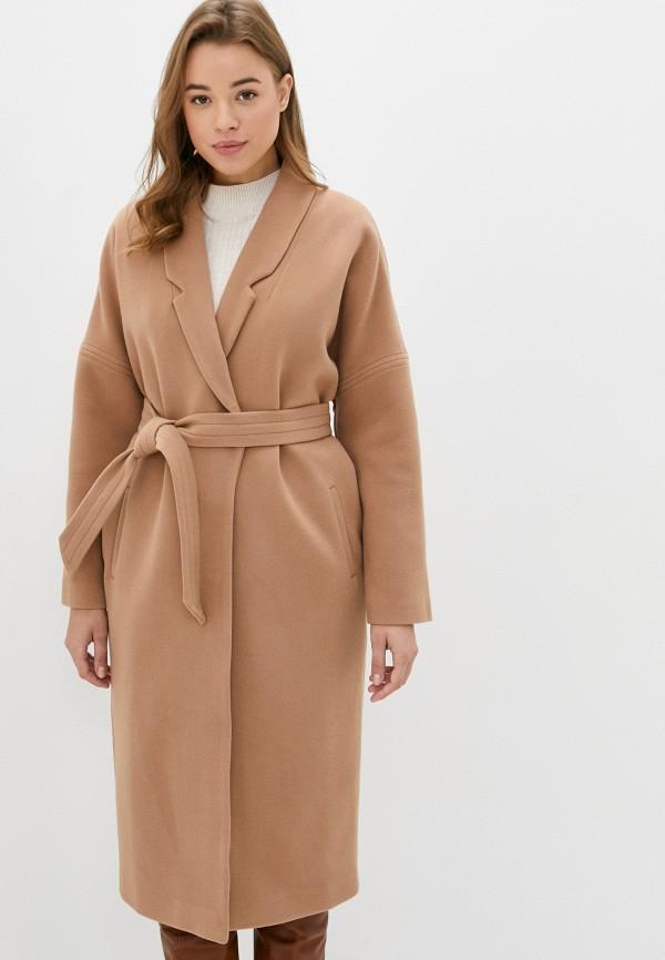 женское пальто moda sincera, бежевое