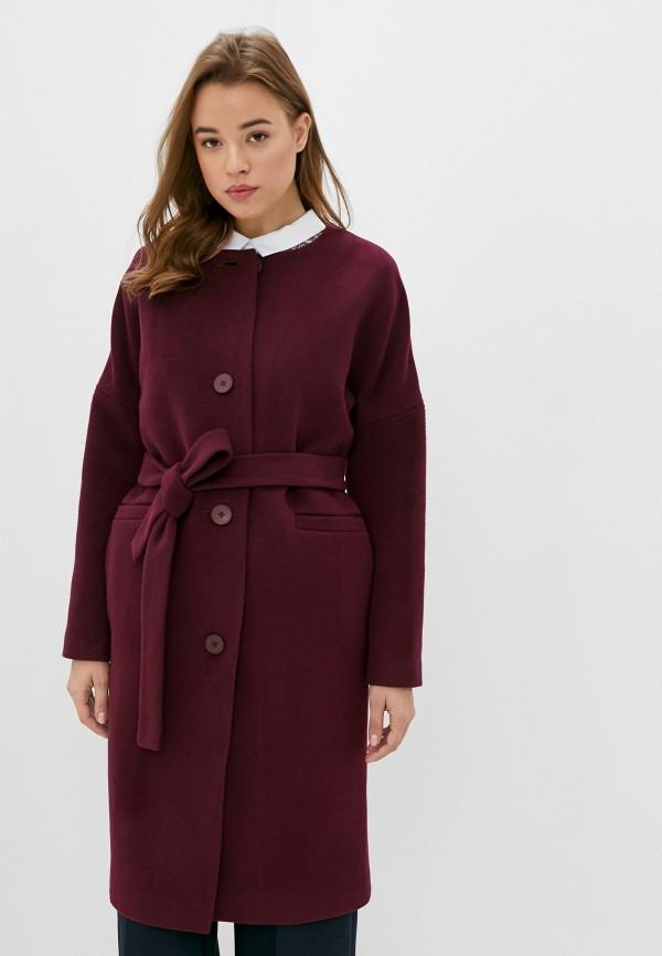 женское пальто moda sincera, бордовое