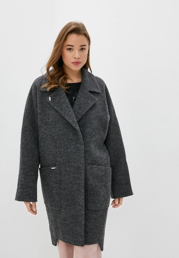 женское пальто moda sincera, серое