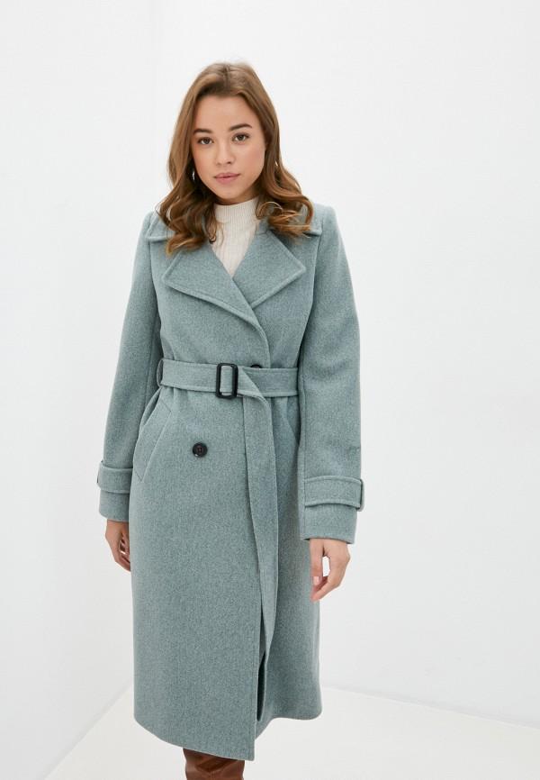 женское пальто moda sincera, зеленое