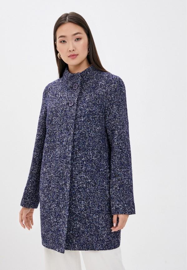 женское пальто moda sincera, синее