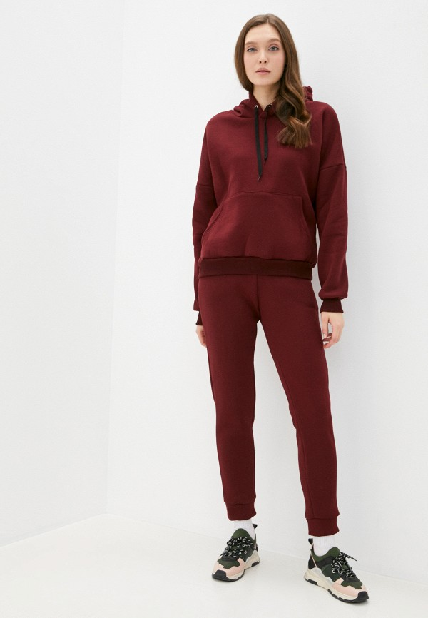 женский спортивный костюм moda sincera, бордовый
