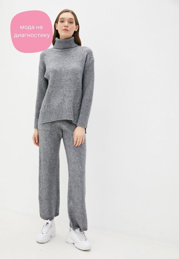 женский костюм moda sincera, серый
